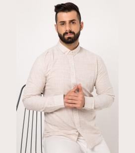 Kisa-Kol-Uzun-Bisiklet-Yaka-Sari-Basic-Erkek-T-Shirt-TMY-2881